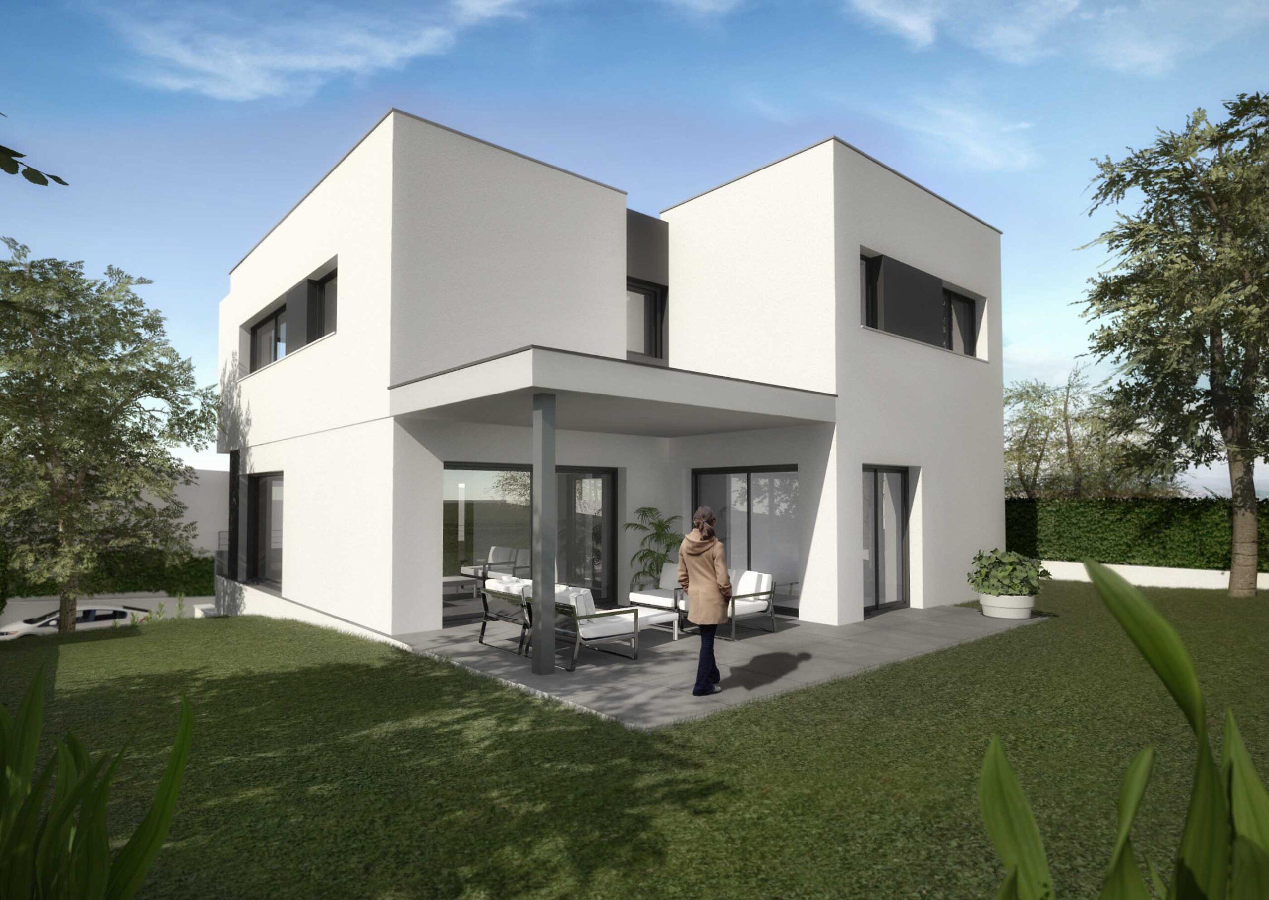 Render Casa exterior. anbimedia3d
