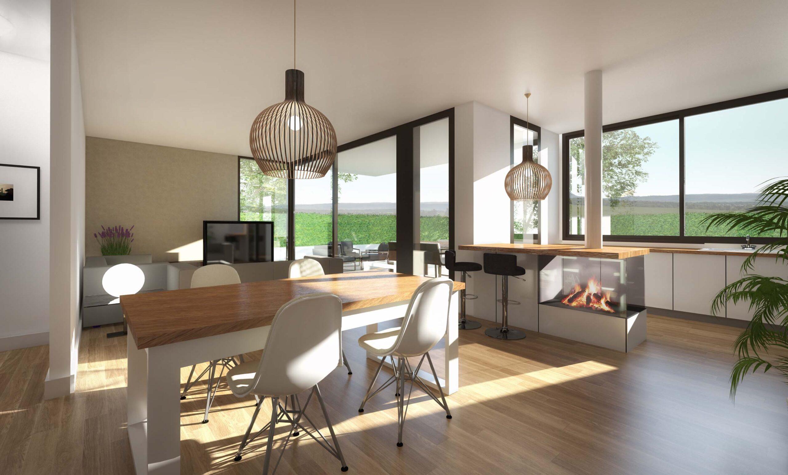 3d Render interior menjador anbimedia3d