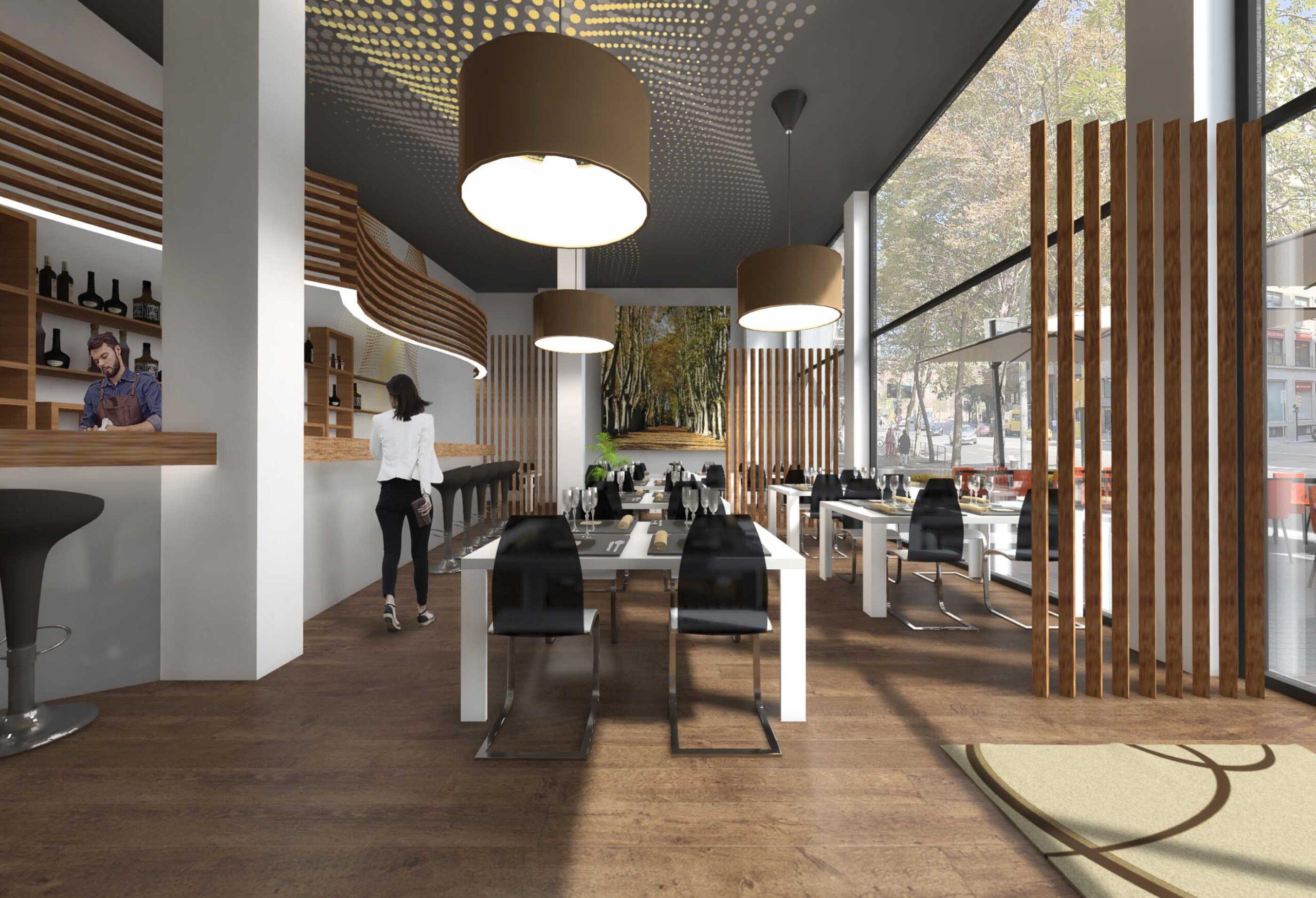 Restaurant Render Girona. anbimedia 3d